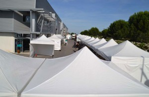 galerie - foire montpellier - tente pliante barnum