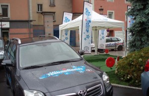 galerie toyota - stand pliant