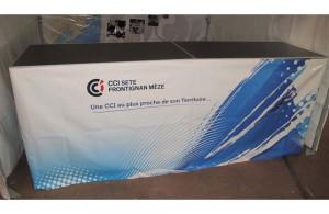 galerie - tente et comptoir pliant CCI Sète