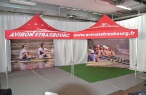 galerie - aviron starsbourg - tente pliante barnum